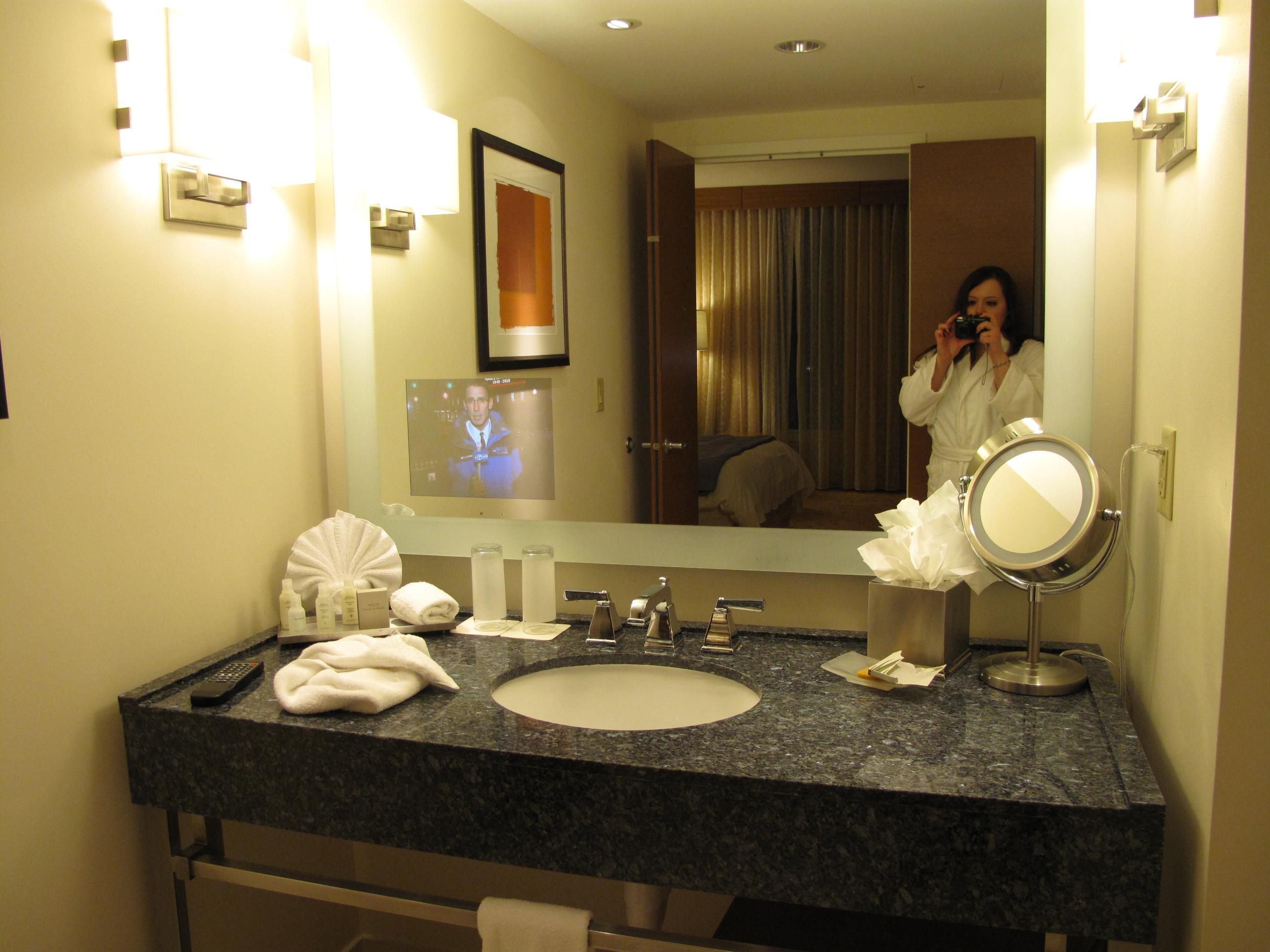 Hotel bathroom mirrors - And A Tv Inside The Bathroom Mirror